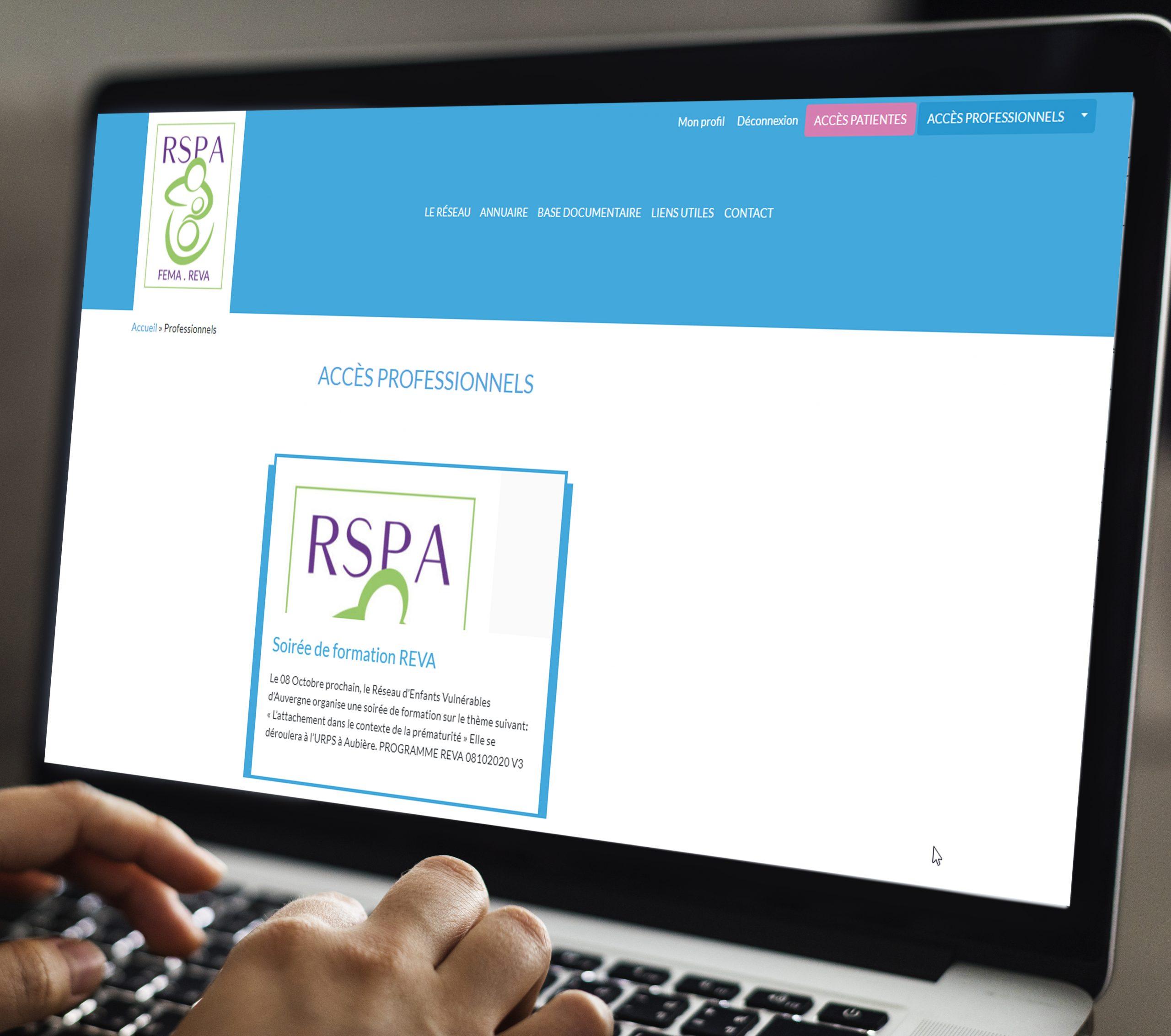 Création du site internet du Réseau de Santé en Périnatalité d'Auvergne