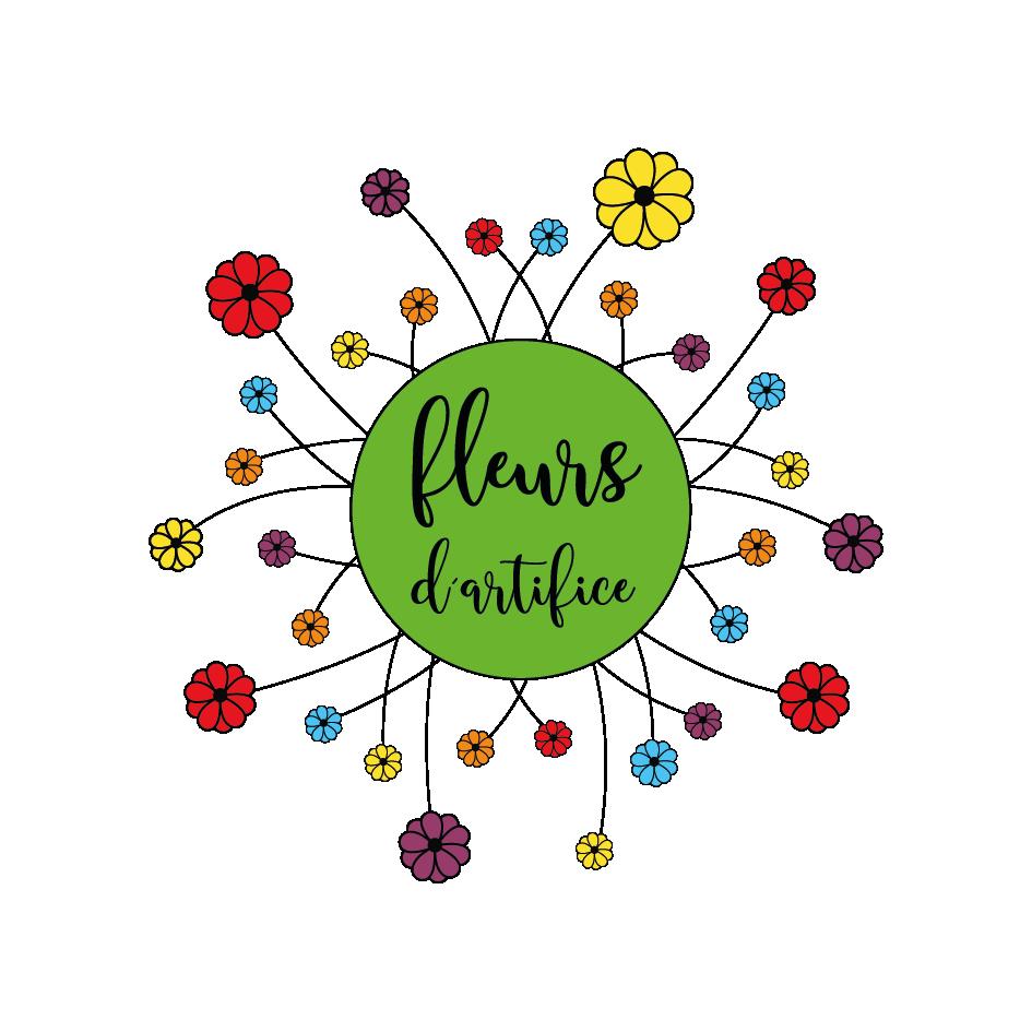 Création du logo Fleurs d'Artifice